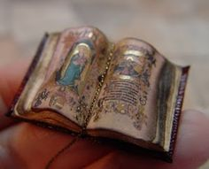 Dollhouse Miniatures : Tiny Medieval Illuminated Manuscript  Share, Repin, Comment - Thanks!
