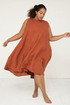 Harlow Dress in Midweight Linen – Elizabeth Suzann Plus Size Dresses, Plus Size Outfits, Dresser, Looks Plus Size, Plus Size Designers, Fashion Line, Jumpsuit Dress, Fall Dresses, Summer Dresses