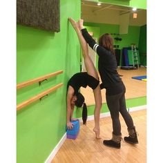 @dynamic.aerial.and.acrobatics - Love stretching out my students :) @creativeedgeabbotsford