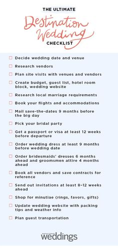 The Ultimate Destination Wedding Checklist - Ready to discover all the rest of these need-to-know details? Click through for your tailored guide - Destination Wedding Checklist, Wedding Planning Checklist, Event Planning, Wedding Planner, Wedding Checklists, Destination Weddings, Low Cost Wedding, Budget Wedding, Planning A Small Wedding