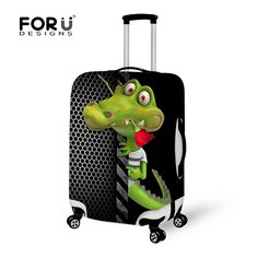 FORUDESIGNS Zoo Animal Luggage Protective Case Alligator Luggage Cover for 18-30 inch Trolley Suitcase Elastic Dust Rain Cover