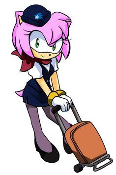 Flight attendant Amy
