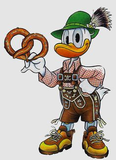 Donald Duck .. in Bavaria,Germany outfit.