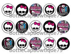 Bottle Cap Images - Monster High - Monster High Bottle Cap Images - Monster Bottle Cap Images - Caps $0.99