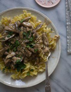 Mushroom Stroganoff is a great #MeatlessMonday idea!