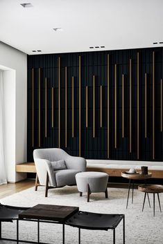 Feature Wall Design, Feature Wall Bedroom, Accent Walls In Living Room, Wall Decor Design, Bedroom Wall, Living Room Decor, Bedroom Decor, Wood Feature Walls, Dining Room Feature Wall