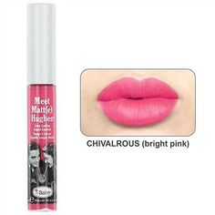 A bright cheerful pink llquid lipstick for the weekend by The Balm cosmetics