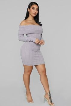adaee0bd3ed Exposing My Soft Side Sweater Dress - Lavender