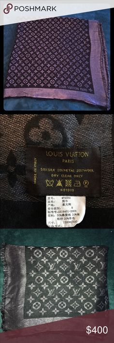 Louis Vuitton Pashmina Authentic Louis Vuitton Pashmina Shawl. Pre loved and in good conditions! No stains! Louis Vuitton Accessories Scarves & Wraps