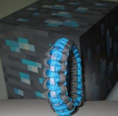 Minecraft Diamond Ore Block Survival Strap Gamer Wristband Gamers Bracelet. $6.99, via Etsy.