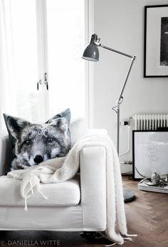 cozy living room, photo print cushion