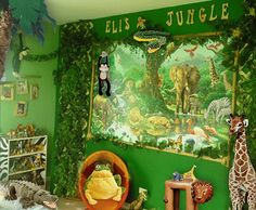 Here is Jungle Animal Bedroom Accessories Theme Decor Ideas for Kids Photo Collections at Kid Bedroom Catalogue. More Picture Design Jungle Animal Bedroom Accessories can you found at her Animal Bedroom, Jungle Bedroom, Forest Nursery, Bedroom Themes, Girls Bedroom, Bedroom Ideas, Jungle Theme Decorations, Theme Ideas, Rainforest Theme