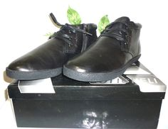 Boticheli Black Men Casual Dress Genuine Leather Fur Shoes Boots Sz US 12 EU 45 #Boticheli #AnkleBoots