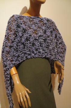 knitting poncho, summer, blue, pattern, handmade Knitting, Summer, Pattern, Handmade, Blue, Design, Fashion, Ponchos, Scarf Crochet