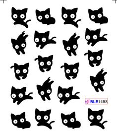 1sheets 3D Beauty Black Cute Cat Nail Art Sexy Stickers Decals Water Transfer Wraps Manicure Tools #>=#>=#>=#>=#> Click on the pin to check out discount price, color, size, shipping, etc. Save and like it!