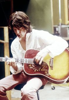 """soundsof71: """"Mick Jagger working on """"Sympathy for the Devil"""" Olympic Studio, London, June 1968, by Tony Gale. """""""