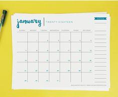 2018 17 calendar printable