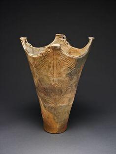 Jomon--Deep Pot, c. 2000-1000 B.C.    Earthenware.  The Art Institute of Chicago