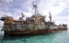 BRP Sierra Madre is a huge, rusting World War Two, cargo vessel in the South China Sea. It is currently being used as a lookout post by the Phillipino navy. Around eight Filipino soldiers live here for three months at a time, just to prove the point that it lies within Philippine's 200-nautical mile exclusive economic zone (EEZ) directly contesting the Chinese claims that the shoal-which it calls as Ren'ai reef- is part of its territory.