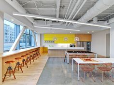 Fullscreen - 12 Startups With Incredible Office Design - Photos Corporate Office Design, Corporate Interiors, Office Interiors, Corporate Offices, Commercial Interior Design, Office Interior Design, Commercial Interiors, Office Designs, Coworking Space
