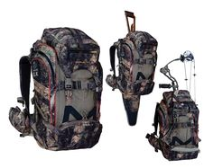 $299.00- The Team Elk pack made by Eberlestock has a unique set of best-in-class features, including fold-away rifle scabbard, built-in bow carrier, Intex tubular aluminum frame, grapple-compression straps, waist-belt rangefinder pockets, and more! At 3100 cubic inches (40 liters), the Team Elk pack hits the sweet spot in hunting pack size. It serves well as a day pack but can serve for shorter multi-day trips, and is a great game hauler. Has both front-loading and top-loading access.