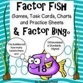 Factor Games - Factor Fish and Factor Bingo Games and Task Cards Free Math Games, Fun Math, Math Activities, Bingo Games, 5th Grade Math, Fourth Grade, Multiplication Squares, Bingo Board, Student Drawing
