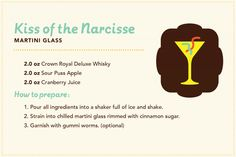 Manitoba cocktails: Kiss of the Narcisse, featuring Crown Royal Deluxe Whisky and gummi worms.