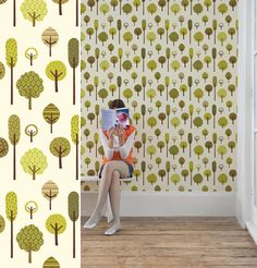 Woodland Wallpaper by Muffin & Mani