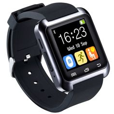 """HopCentury Bluetooth Smart Watch for Android Cellphones with Calls Notifier Sleep Monitor Pedometer Stopwatch Anti Lost Drink/Rest Reminder, Support iPhone with Partial Functions Black. The Bluetooth 3.0 smart wrist watch support Google Android system perfectly with the Android Apk, you can read the latest 5 messages from Skype, WeChat, WhatsApp etc. on your wrist, BUT Apple IOS does NOT support BT Notice, Sleep Monitor, Pedometer, Messages(SMS) and BT Camera. 1.48"""" capacitive touch…"""
