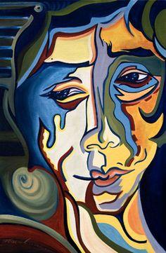 """Saatchi Online Artist Maria Maciel; Painting, """"Lagrimas de Azul"""" #art"""