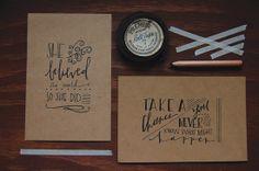 handwritten postcards | #madeinthefold