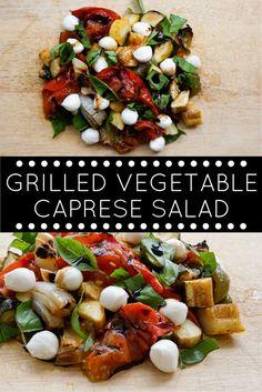 Grilled Vegetable Caprese Salad | Slender Kitchen