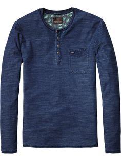 Jersey Grandad T-Shirt | T-shirt l/s | Men's Clothing at Scotch & Soda