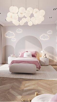 Luxury Kids Bedroom, Modern Kids Bedroom, Pink Bedroom For Girls, Kids Bedroom Designs, Room Design Bedroom, Room Ideas Bedroom, Home Room Design, Baby Room Decor, Nursery Ideas