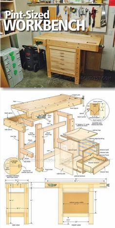 Compact Workbench Plans - Workshop Solutions Plans, Tips and Tricks | http://WoodArchivist.com #WoodworkingBench