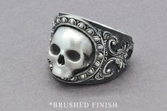 The Reaper Ring, Skull Ring, Sterling Silver Ring, Men's Skull Ring, Men's Statement Ring, Gothic Ring, Pirate Skull Ring, Statement Ring by SuttonSmithworks on Etsy https://www.etsy.com/ca/listing/280182846/the-reaper-ring-skull-ring-sterling