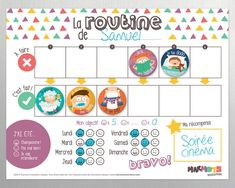 My School Days Routine magnet kit - Magnets - Magnetic Board - Routine - Elementary school - Homework - Lessons - Kids - Child - Minimo Routine Chart, Babysitting Activities, Daily Activities, Chore Magnets, School Routines, Teaching Kids, Elementary Schools, Kit, Parfait