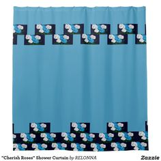"""Cherish Roses"" Shower Curtain"