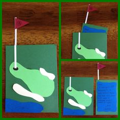 Golf card for dad's birthday