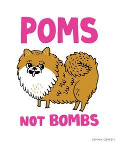poms not bombs