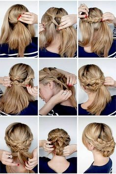 Just got the hang of a french braid. This is my next hurdle.