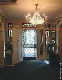 The front door of Graceland. I wonder who had the key or if it was ever locked?