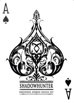 """Shadowhunters card, I believe it says """" the descent into h*** is easy"""" I refuse 2 say the word"""
