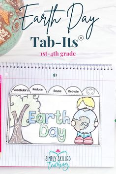 Let's celebrate Earth Day! This Earth Day Tab-Its® booklet is engaging, fun, rigorous and fits beautifully in your Interactive Notebooks! Each page of this Tab-It® Booklet incorporates reading, writing, art, and research skills.This unit includes one Tab-Its® booklet on Earth Day. Daily 5 Activities, Smart Board Activities, Grammar Activities, Social Studies Activities, Interactive Activities, Interactive Notebooks, Science Activities, Writing Activities, Expository Writing