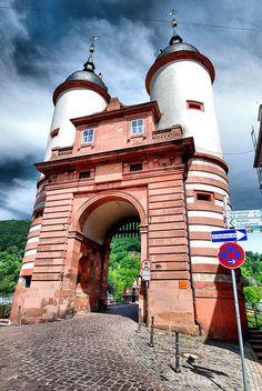 Heidelberg Old Town Bridge - Heidelberg, Germany http://maupintour.com/tour/romantic-germany-tour-group-1