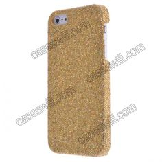 Magnificent Glittery Evening Dress Pattern Faux Leather Coated Back Case Cover for iPhone 5 - Gold US$3.99
