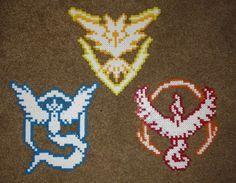 Pokemon GO Team Symbol Perler Beads by TidalRavess
