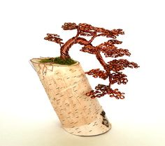 Copper Wire Cascade Bonsai Tree by ABsArtisticCreations on Etsy