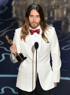 Jared Leto winning the Academy Award for Best Supporting  Actor for his portrayal as the beautiful Rayon in Dallas Buyers Club #Oscars2014