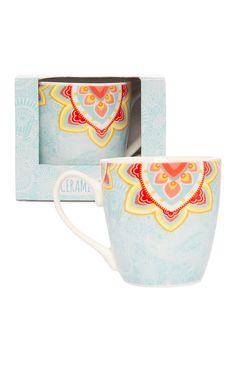 Primark - Blue Paisley Ceramic Mug
